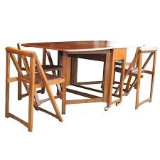 fold up table chairs wood dining table cha wood