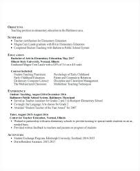 Early Childhood Education Resumes Early Childhood Educator Resumes