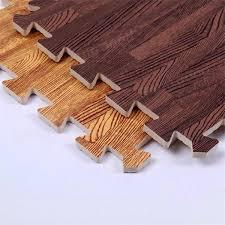 9 pcs interlock foam floor puzzle work gym mat 6 pattern easy clean adhesive wood floor