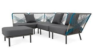 Copa outdoor corner sofa cool blue MADEcom