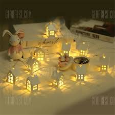 YEDUO 1.5M <b>10pcs</b> LED <b>Christmas Tree</b> House Style Fairy Light ...