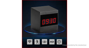 1080p hd mini alarm clock wifi ip