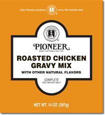 pioneer gravy. pioneer roast chicken gravy mix