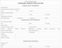 New Vendor Setup Form Template Elegant New Vendor Form Template