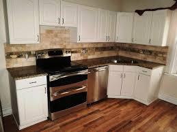 living room kitchen backsplash tile blue white ceramic tiled floor orange metal bar stool stainless