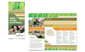 Lawn Care Flyer Template Word Lawn Care Mowing Brochure Template Design