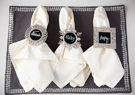 Chalkboard Napkin Rings & Place Cards