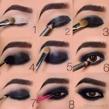 step by step on doing a blacked out smokey eye makeup by trendyyusufi