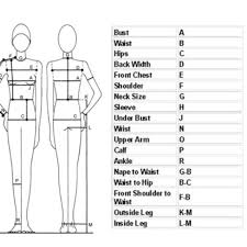 Measurement Chart For Reference Waist And Hip Depop