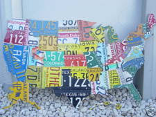 license plate wall art all 50 states