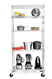 trinity ecostorage 5 tier nsf wire shelving rack with wheels 36 by 18 by 72 inch chrome 109 99 94 40
