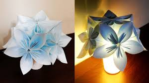 Paper Flower Lamp Kusudama Night Light Diy Learn How To Make A Flower Lamp With Led Lights Ezycraft