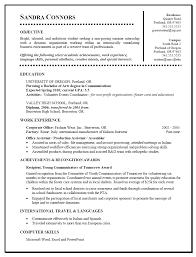 sample of student resume