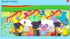 sesame street rositas fiesta sesame street games pbs kids
