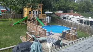Build Water Slide Above Ground Pool Round Designs