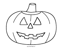 Small Picture Halloween Pumpkin Coloring Page Free Printable