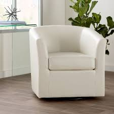 found it at wayfair wilmore faux leather swivel barrel chair
