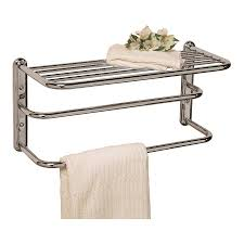 ... Gatco Essentials Chrome Metal Wall Mounted Towel Rack For Rolled Towels  Ideas: Interesting ...