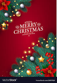 Christmas Design Template Merry Christmas Design Template With Realistic Fir