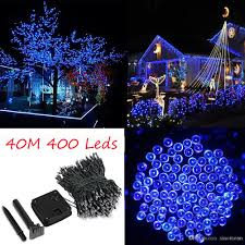 String Light Outdoor Christmas Tree 42m 137 8ft Solar Powered 400 Led Fairy String Light Outdoor Garland Garden Christmas Tree Wedding Party Decoration Lamp Lights String Brown String