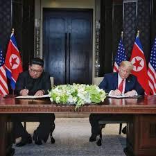 「米朝首脳会談調印」の画像検索結果