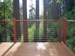 exterior wood railing. image by: ultra-tec cable railing by the connection exterior wood a