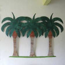 Upcycled Wall Art Hand Crafted Handmade Upcycled Metal Extra Large Palm Tree Wall