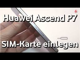 Huawei Ascend P7 - Vodafone SIM-Karte einlegen - YouTube
