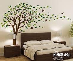 blowing tree wall decal bedroom wall