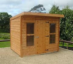 duraboard building pent timber shed