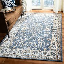 safavieh hand knotted stone wash blue ivory wool rug 8 x 10