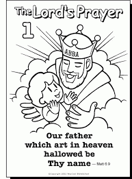 Lords Prayer Coloring Pages Printable Raovat24hinfo