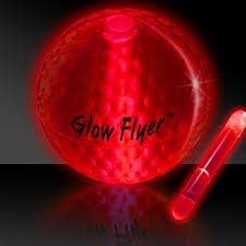 glow flyer red glow flyer golf ball