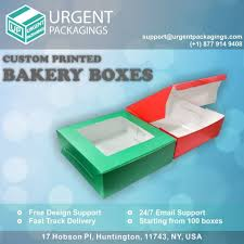 Custom Printed Bakery Boxes By Urgent Packaging Trepup