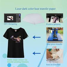 10sheets t shirt a4 iron on inkjet heat transfer paper for dark color fabrics 669614343561