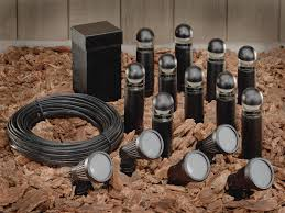low voltage led landscape lighting kits black bronze finish with long cord landscape lighting for informal