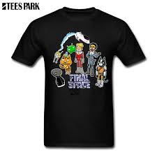 Large Size T Shirt Final Space Montage T Shirts For Men Men Clothing Create Junior Cotton Mens Shirts Comprar 2019 Summer Collared T Shirts Funky