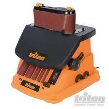 rikon belt sander. triton 977604 oscillating spindle belt sander 450w with unit,throat plates,drum rikon