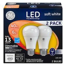 ge led soft white light bulbs 6 watt