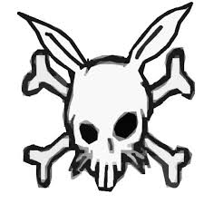 rabbit skull and crossbones by theeviljebustalkshow on deviantart