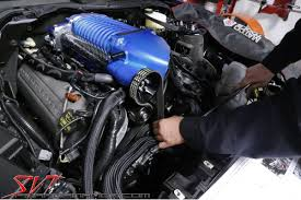 tech 2015 mustang whipple install svtperformance things progressing nicely harvey uses a larger wrench to release the spring loaded