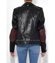 lyst rag bone black schott leather jacket in