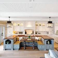 Kitchen island with Table Built In