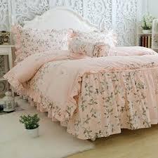 printed orange color tree leaves cotton ruffles bedding sets dreaming home duvet cover pillowcase sheet sets