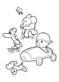 Small Picture Picture of Pocoyo and Friends Coloring Page Color Luna