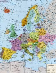 Страны Центральной Европы Политическая карта Европы