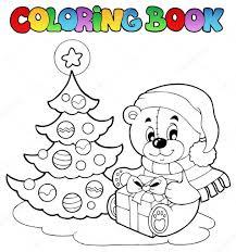Livre No L Ours En Peluche Colorier Image Vectorielle Clairev