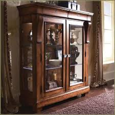 furniture brown wooden display cabinet with glass of wood display cabinets with glass doors