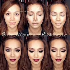 for those of us who don t know contouring is using specific makeup techniques to give shape and structure to part of the face celebrities like kim