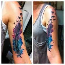 Tetování Pírko S Ptáky Freedom My Free World